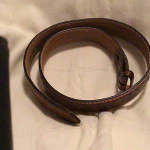 Ostrich (faux) leather belt